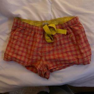 aerie plaid pj shorts